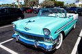 Chevrolet Bel Air Convertible. Retro Blue Car Royalty Free Stock Photography - 72394487