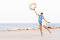 Beach Woman Happy And Colorful Wearing Sunglasses And Beach Hat Having Summer Fun During Travel Holidays Stock Photo - 72397810