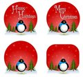 Penguin Christmas Backgrounds Royalty Free Stock Photos - 7247908