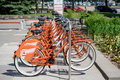 Bikes For Rent Royalty Free Stock Image - 72402636