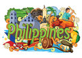 Doodle Showing Architecture And Culture Of Philippines Stock Image - 72405761