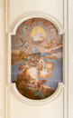 Fresco On The Ceiling Of The Church Of Saint Anthony Abbot. Stock Images - 72409234