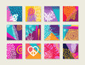 Summer Set Of Colorful Cards With Happy Designs Royalty Free Stock Image - 72412876