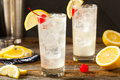 Refreshing Classic Tom Collins Cocktail Royalty Free Stock Photo - 72418485