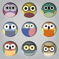 Vector Set Of App Icons  Cute Owls Royalty Free Stock Images - 72441299