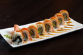 Freshly Prepared Sushi Dish Royalty Free Stock Images - 72454759