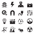 Basic Electricity Icons Set Royalty Free Stock Photo - 72473395