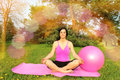 Woman Meditating Outdors Stock Images - 72475534