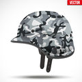 Military Modern Camouflage Helmet. Side View. Royalty Free Stock Photos - 72486168