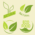 Set Of Labels, Logos With Text. Natural, Eco Food. Organic Food Royalty Free Stock Photo - 72497455