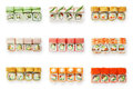 Set Of Sushi Rolls Isolated At White Royalty Free Stock Image - 72510226