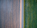Dirt Road, Plowed Field And Meadow Stock Photos - 72511533