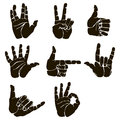 Vector Set Of Hand Gesture Royalty Free Stock Image - 72519326