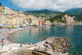 Crowd In The Beach Of Camogli During A Sunny Afternoon Royalty Free Stock Photo - 72538575