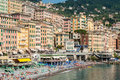 Crowd In The Beach Of Camogli During A Sunny Afternoon Royalty Free Stock Photos - 72539138