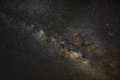 Milky Way Galaxy, Long Exposure Photograph,with Grain Stock Image - 72580131