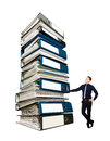 Businessman And A Stack Of Office Folders, Concept Stock Images - 72580844