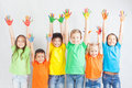 Group Of Multiracial Funny Children Stock Photos - 72585853