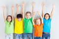 Group Of Multiracial Funny Children Royalty Free Stock Images - 72586339