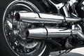 Bike Exhaust Pipes Royalty Free Stock Photo - 72586955