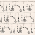 Hand Drawn Dry Herb And Plants Garland Illustration In . Royalty Free Stock Photo - 72588855