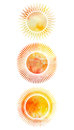 Set Of Icons Of Suns With Different Rays Royalty Free Stock Photos - 72597118