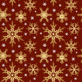 Vector. Seamless Ornament With Snowflakes Stock Images - 7261894