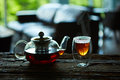 Cup Of Tea And Teapot Royalty Free Stock Image - 72623556