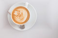 Flat White Coffee Art Pattern From Top Royalty Free Stock Images - 72627319