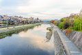Kamo River In Evening. Kyoto, Japan Royalty Free Stock Photography - 72628827