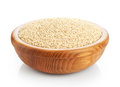 Wooden Bowl With Sesame Seeds Isolated On White Background. Royalty Free Stock Photo - 72637925