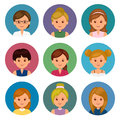 Set Of Avatars Girls With Different Hairstyles. Isolated Women Avatars For Ui And Web Design. Royalty Free Stock Photography - 72642117