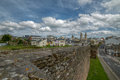 Roman Walls And Cathedral Of Lugo Royalty Free Stock Images - 72647569