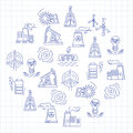 Energy Ecology And Pollution Vector Set Of Icons Stock Images - 72650184