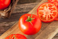 Raw Organic Red Beefsteak Tomatoes Royalty Free Stock Image - 72673956
