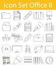 Drawn Doodle Lined Icon Set Office II Stock Photos - 72679923