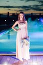 Young Bride In Luxury Wedding Dress. Evening Stock Photo - 72687120