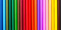 Colored Pencils Lined In Row. Royalty Free Stock Photography - 72697377