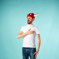 The Football Fan Over Blue Stock Images - 72703634