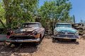 Old Car Wrecks At Hackberry General Store Royalty Free Stock Photos - 72704838