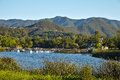 Beautiful View Of Malibu Lake Royalty Free Stock Image - 72725686