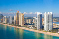 Aerial View Of Trump Tower At Sunny Isles Beach  Stock Images - 72732694