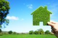Green Ecological House In Empty Field Royalty Free Stock Photo - 72748545