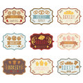Collection Of Vintage Retro Bakery Logo With Bread,pretze Royalty Free Stock Images - 72772589