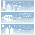 Set Of Banners For Theme Bottled  Flat Design. Vector  Stock Photography - 72773242