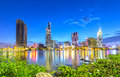 Beauty Skyscrapers Architecture Along River Stock Photo - 72782500
