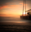 Jersey Shore Sunrise In Winter Royalty Free Stock Photo - 72788005