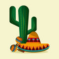 Mexico Culture Icons In Flat Design Style, Vector Illustration Stock Images - 72803214
