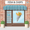 Fish And Chips Cafe Royalty Free Stock Photography - 72812627