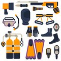Set Of Diving Equipment Stock Photo - 72818240